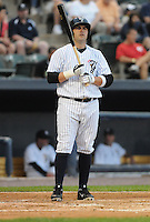 Catcher P.J. Pilittere (44) of the Scranton/Wilkes-Barre Yankees, International League affiliate of the New York Yankees, in a game against the Norfolk Tides on June 20, 2011, at PNC Park in Moosic, Pennsylvania. (Tom Priddy/Four Seam Images)