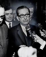 1968 FILE PHOTO - ARCHIVES -<br /> <br /> Quebec Premier Johnson<br /> <br /> PHOTO : Reg INNELL - Toronto Star Archives - AQP