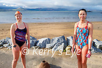 Enjoying a swim in Fenit on Saturday, l to r: Laura Fitzgerald and Aisling Brosnan.