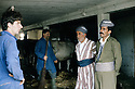 France 1989.Iraqi Kurds visiting a farm in Bourg Lastic.France 1989.Kurdes irakiens visitant une ferme a Bourg Lastic