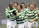 12/12/2009  Copyright  Pic : James Stewart.sct_jspa10_motherwell v celtic  . :: MARC ANTOINE FORTUNE CELEBRATES WITH TEAM MATES AFTER HE SCORES CELTIC'S WINNING THIRD :: .James Stewart Photography 19 Carronlea Drive, Falkirk. FK2 8DN      Vat Reg No. 607 6932 25.Telephone      : +44 (0)1324 570291 .Mobile              : +44 (0)7721 416997.E-mail  :  jim@jspa.co.uk.If you require further information then contact Jim Stewart on any of the numbers above.........