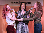 Teal Wicks, Stephanie J. Block and Micaela Diamond during 'The Cher Show' Original Broadway Cast Recording performance and CD signing at Barnes & Noble Upper East Side on May 14, 2019 in New York City.