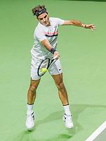 Rotterdam, The Netherlands, 17 Februari, 2018, ABNAMRO World Tennis Tournament, Ahoy, Tennis, Semi final single, Roger Federer (SUI)<br /> <br /> Photo: www.tennisimages.com