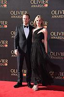 Rafe Spall and Elize du Toit<br /> arriving for the Olivier Awards 2017 at the Royal Albert Hall, Kensington, London.<br /> <br /> <br /> ©Ash Knotek  D3245  09/04/2017