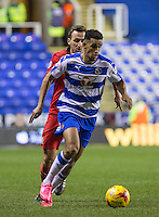Nick Blackman of Reading in action during the Sky Bet Championship match between Reading and Blackburn Rovers at the Madejski Stadium, Reading, England on 20 December 2015. Photo by Andy Rowland / PRiME Media Images