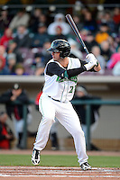 Dayton Dragons outfielder Jesse Winker #23 during a game against the Bowling Green Hot Rods on April 20, 2013 at Fifth Third Field in Dayton, Ohio.  Dayton defeated Bowling Green 6-3.  (Mike Janes/Four Seam Images)