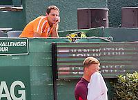 The Hague, Netherlands, 26 July, 2016, Tennis,  The Hague Open ,Tim van Rijthoven (NED) in the background coach Paul Haarhuis<br /> Photo: Henk Koster/tennisimages.com