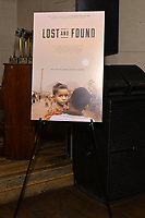 """NEW YORK - OCTOBER 30: Signage and atmosphere at ) post-screening reception area) at the screening of National Geographic Documentary Films """"Sea of Shadows"""" and """"Lost and Found"""" on October 30, 2019 in New York City. (Photo by Anthony Behar/National Geographic/PictureGroup)"""