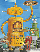 Ingrid, CHILDREN, KINDER, NIÑOS, paintings+++++,USISAS37S,#k#, EVERYDAY,robot,robots