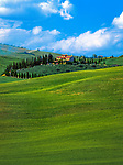 Italien, Toskana, Provinz Siena, Val d'Orcia: Toskanischer Bauernhof bei Pienza | Italy, Tuscany, Province of Siena, Val d'Orcia: tuscan farm near Pienza
