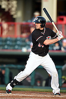 Erie SeaWolves first baseman Aaron Westlake (24) at bat during a game against the Akron RubberDucks on May 17, 2014 at Jerry Uht Park in Erie, Pennsylvania.  Erie defeated Akron 2-1.  (Mike Janes/Four Seam Images)