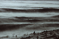 Europe/France/Auvergne/43/Haute-Loire: Le massif du Mézenc (1754 mètres)  la burle  (vent violent)fait filer  la neige