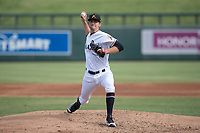 Salt River Rafters relief pitcher Ben Meyer (51) of the Miami Marlins organization, delivers a pitch to the plate during an Arizona Fall League game against the Mesa Solar Sox on October 30, 2017 at Salt River Fields at Talking Stick in Scottsdale, Arizona. The Solar Sox defeated the Rafters 8-4. (Zachary Lucy/Four Seam Images)