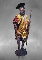 Painted wood sculpture of Saint Roch, circa 1510-1515  from Carinthie, Austria. Inv RF  4514,  The Louvre Museum, Paris.