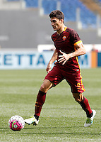 Calcio, Serie A: Lazio vs Roma. Roma, stadio Olimpico, 3 aprile 2016.<br /> Roma's Diego Perotti in action during the Italian Serie A football match between Lazio and Roma at Rome's Olympic stadium, 3 April 2016.<br /> UPDATE IMAGES PRESS/Isabella Bonotto
