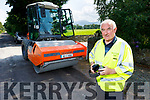 Charlie Farrelly working on a road improvement project in Beauford.