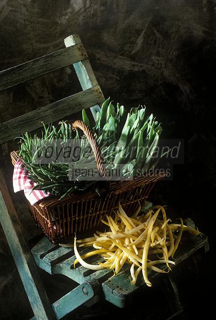 Gastronomie générale / Cuisine générale :  Haricots verts, et haricots beurre
