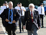 St Johnstone v Lask…26.08.21  McDiarmid Park    Europa Conference League Qualifier<br />Perth & Kinross Council Provost Dennis Melloy arrives ahead of tonight's game<br />Picture by Graeme Hart.<br />Copyright Perthshire Picture Agency<br />Tel: 01738 623350  Mobile: 07990 594431