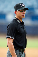 Umpire George Reidel during a Gulf Coast League game between the GCL Yankees and GCL Phillies at Legends Field on July 17, 2012 in Tampa, Florida.  GCL Phillies defeated the GCL Yankees 4-2.  (Mike Janes/Four Seam Images)