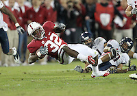 STANFORD, CA - November 6, 2010: Anthony Wilkerson on a 17 yard run during a 42-17 Stanford win over the University of Arizona, in Stanford, California.