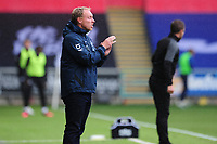 Steve Cooper Head Coach of Swansea City shouts instructions to his team from the dug-out during the Sky Bet Championship match between Swansea City and Luton Town at the Liberty Stadium in Swansea, Wales, UK. Saturday 27 June 2020.