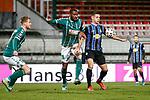 13.01.2021, xtgx, Fussball 3. Liga, VfB Luebeck - SV Waldhof Mannheim emspor, v.l. Osarenren Okungbowa (Luebeck, 20), Marco Schuster (Mannheim, 6) <br /> <br /> (DFL/DFB REGULATIONS PROHIBIT ANY USE OF PHOTOGRAPHS as IMAGE SEQUENCES and/or QUASI-VIDEO)<br /> <br /> Foto © PIX-Sportfotos *** Foto ist honorarpflichtig! *** Auf Anfrage in hoeherer Qualitaet/Aufloesung. Belegexemplar erbeten. Veroeffentlichung ausschliesslich fuer journalistisch-publizistische Zwecke. For editorial use only.