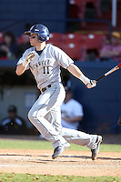 March 14, 2010:  Third Baseman David Duffett of Bucknell University Bisons vs. UMBC in a game at Chain of Lakes Stadium in Winter Haven, FL.  Photo By Mike Janes/Four Seam Images