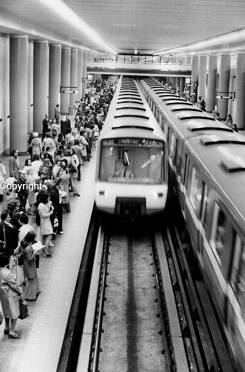 Montreal - Subway<br /> <br /> 1973<br /> <br /> PHOTO :  Dick Darrell - Toronto Star Archives - AQP