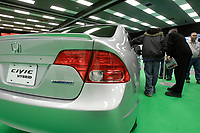 Montreal's AUTO SHOW 2007 feature many hybrid cars such as a Hinda Civic<br /> <br /> <br /> photo :  Images Distribution