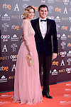 Beatriz Tajuelo and Albert Rivera attends to the Red Carpet of the Goya Awards 2017 at Madrid Marriott Auditorium Hotel in Madrid, Spain. February 04, 2017. (ALTERPHOTOS/BorjaB.Hojas)