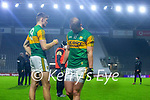 Diarmuid O'Connor, Kerry and Stephen O'Brien, Kerry after the Munster GAA Football Senior Championship Semi-Final match between Cork and Kerry at Páirc Uí Chaoimh in Cork.