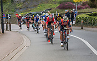 (later winner) Sonny Colbrelli (ITA/Bahrain-Merida) showing himself at the front in th erace finale<br /> <br /> 57th Brabantse Pijl - La Flèche Brabançonne (1.HC)<br /> 1 Day Race: Leuven › Overijse (197km)