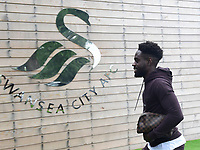 Swansea City's Nathan Dyer arrives for his first day back for the new season.