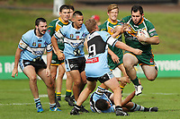 The Wyong Roos play Terrigal Sharks in Round 5 of the Reserve Grade Central Coast Rugby League Division at Morry Breen Oval on 5th of May, 2019 in Kanwal, NSW Australia. (Photo by Paul Barkley/LookPro)