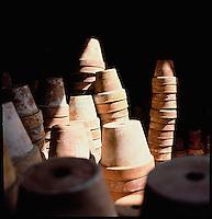 Terracotta flower pots<br />