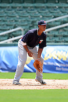 GCL Twins first baseman Jorge Fernandez (79) during a game against the GCL Red Sox on July 19, 2013 at JetBlue Park at Fenway South in Fort Myers, Florida.  GCL Red Sox defeated the GCL Twins 4-2.  (Mike Janes/Four Seam Images)