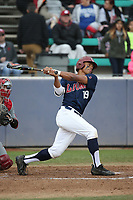 Billy Wilson (19) of the Loyola Marymount Lions bats against the Washington State Cougars at Page Stadium on February 26, 2017 in Los Angeles, California. Loyola defeated Washington State, 7-4. (Larry Goren/Four Seam Images)
