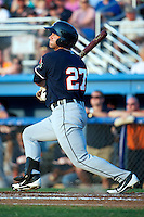 Connecticut Tigers outfielder Zach Kirksey #27 during a game against the Batavia Muckdogs at Dwyer Stadium on July 4, 2012 in Batavia, New York.  Batavia defeated Connecticut 3-2.  (Mike Janes/Four Seam Images)