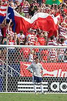 LA Galaxy Goalkeeper Steve Cronin (1) looks on as FC Dallas fans cheer their team's 4-0 victory. LA Galaxy vs FC Dallas at Pizza Hut Park Frisco, Texas July 27, 2008 Final Score 0-4.