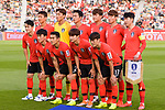Team Korea squad lines up for photo prior to the AFC Asian Cup UAE 2019 Quarter Finals match between Qatar (QAT) and South Korea (KOR) at Zayed Sports City Stadium  on 25 January 2019 in Abu Dhabi, United Arab Emirates. Photo by Marcio Rodrigo Machado / Power Sport Images