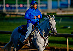 LOUISVILLE, KY - APRIL 30: Trainer Steve Asmussen watches his Kentuckt Derby hopeful exercise during morning workouts at Churchill Downs on April 30, 2018 in Louisville, Kentucky. (Photo by Scott Serio/Eclipse Sportswire/Getty Images)