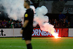 Nederland, Rotterdam, 11 mei 2015<br /> Eredivisie<br /> Seizoen 2014-2015<br /> Feyenoord-Vitesse<br /> Vuurwerk op het veld bij Feyenoord