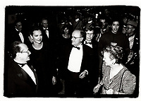 Montreal Qc) CANADA 1994 File Photo-- Carole Bouquet at Montreal World Film Festival's opening along Minister Michel Dupuis (L) and Serge Losique (R)