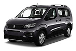 2019 Peugeot Rifter GT-Line 5 Door MPV angular front stock photos of front three quarter view