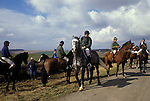 Kiplingcotes Derby Yorkshire 1970s. The Field before the race. The world oldest horse race in the English sporting calendar. Started in 1519, and takes place on the third Thursday in March annually. Kiplingcotes is a small hamlet near Market Weighton.