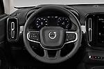 Car pictures of steering wheel view of a 2020 Volvo XC40 Momentum 5 Door SUV Steering Wheel