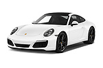 2018 Porsche 911 Carrera 2 Door Coupe angular front stock photos of front three quarter view
