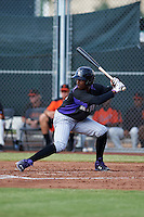 Colorado Rockies Raimel Tapia (56) during an instructional league game against the San Francisco Giants on October 7, 2015 at the Giants Baseball Complex in Scottsdale, Arizona.  (Mike Janes/Four Seam Images)
