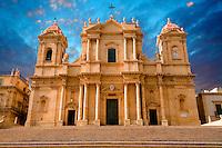 Restored Baroque Cathedral of San Nicolo - Noto, Sicily