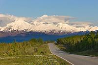 Richardson highway passes through the Alaska Range mountains, Interior, Alaska.